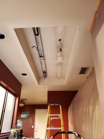 Old recessed florescent to be replaced by recessed can lights