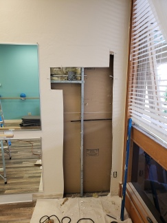 Cutting whole in wall for door